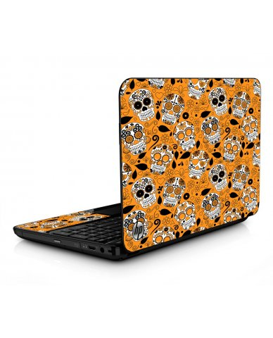 Orange Sugar Skulls HPG6 Laptop Skin