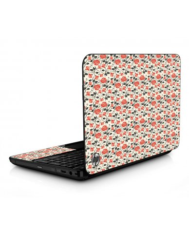 Pink Black Roses HPG6 Laptop Skin