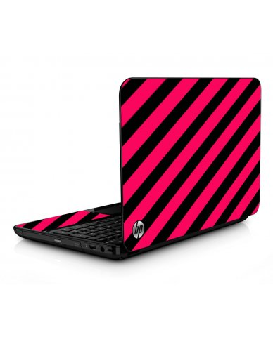 Pink Black Stripes HPG6 Laptop Skin