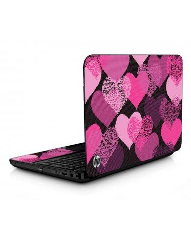 Pink Mosaic Hearts HPG6 Laptop Skin