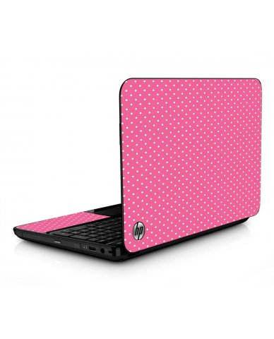 Pink Polka Dot HPG6 Laptop Skin