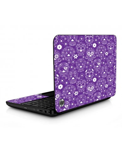 Purple Sugar Skulls HPG6 Laptop Skin