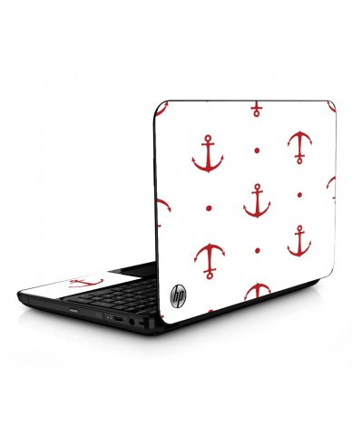 Red Anchors HPG6 Laptop Skin