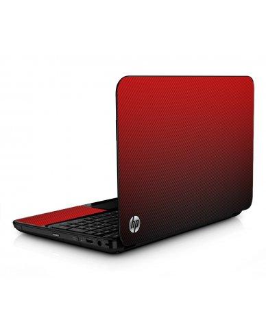 Red Carbon Fiber HPG6 Laptop Skin