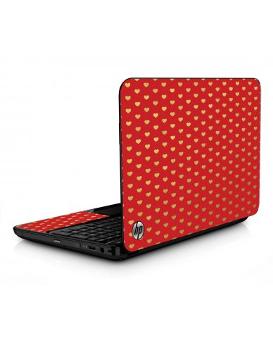 Red Gold Hearts HPG6 Laptop Skin