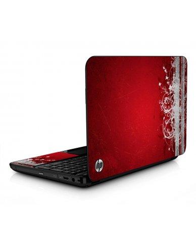 Red Grunge HPG6 Laptop Skin