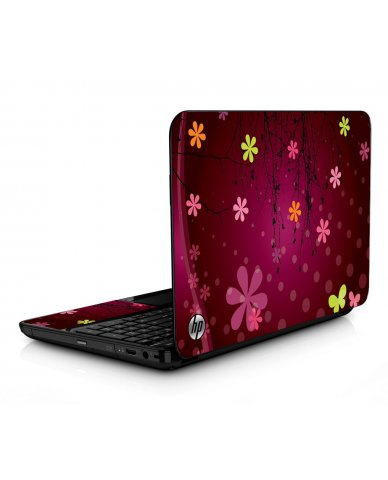 Retro Pink Flowers HPG6 Laptop Skin