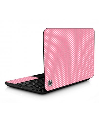 Retro Salmon Polka HPG6 Laptop Skin