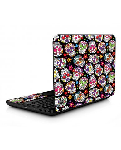Sugar Skulls Black Flowers HPG6 Laptop Skin