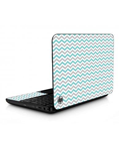 Teal Grey Chevron Wave HPG6 Laptop Skin