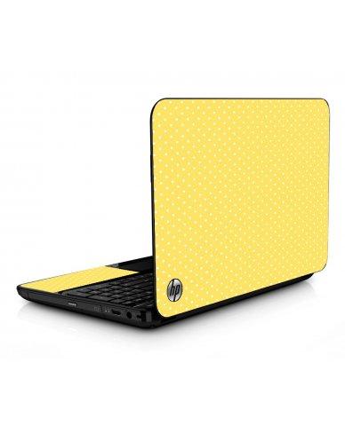 Yellow Polka Dot HPG6 Laptop Skin