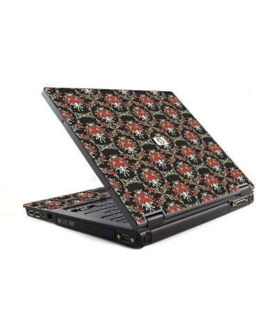 Flower Black Versailles HP NC6120 Laptop Skin