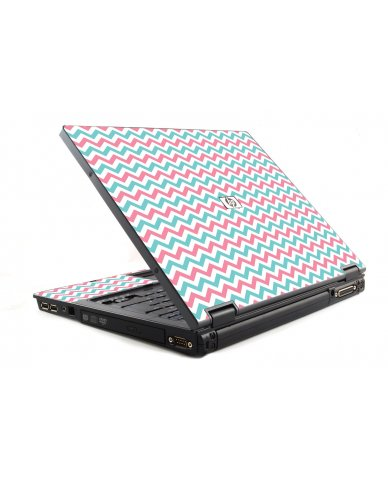 Pink Teal Chevron Waves 6510B Laptop Skin