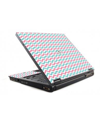 Pink Teal Chevron Waves 6510B Laptop Skin