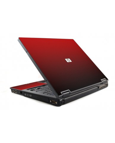 Red Carbon Fiber HP NC6120 Laptop Skin