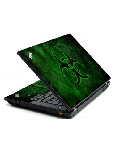 Green Biohazard IBM L412 Laptop Skin