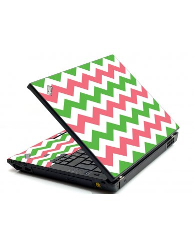 Green Pink Chevron IBM L412 Laptop Skin