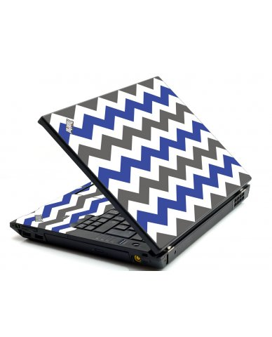 Grey Blue Chevron IBM L412 Laptop Skin