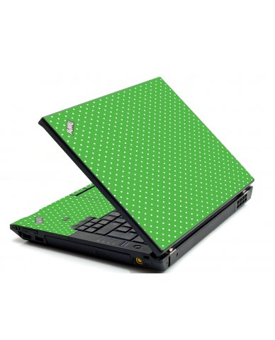 Kelly Green Polka IBM L412 Laptop Skin