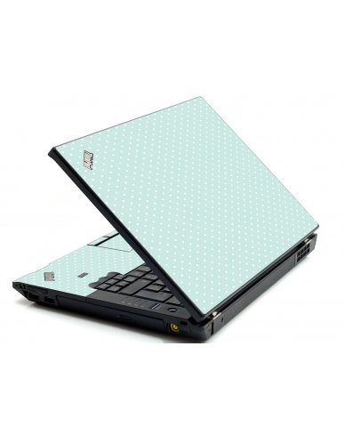 Light Blue Polka IBM L412 Laptop Skin