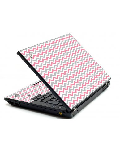 Pink Grey Chevron Waves IBM L412 Laptop Skin