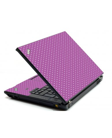 Purple Polka Dot IBM L412 Laptop Skin