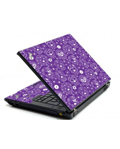 Purple Sugar Skulls IBM L412 Laptop Skin