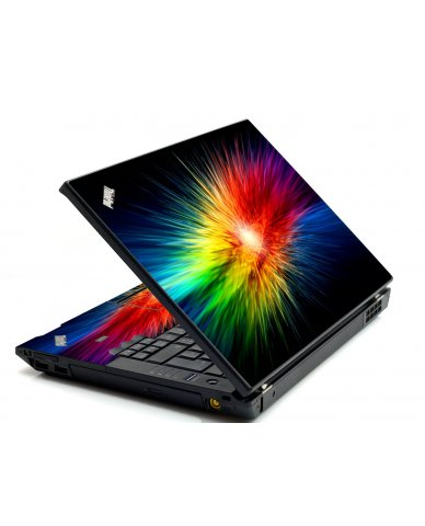 Rainbow Burst IBM L412 Laptop Skin