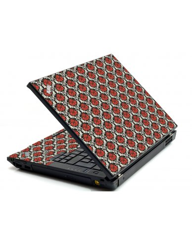 Red Black 5 IBM L412 Laptop Skin