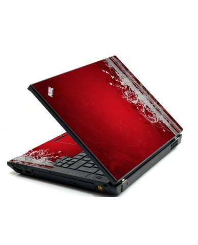 Red Grunge IBM L412 Laptop Skin