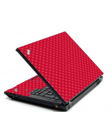 Red Pink Stars IBM L412 Laptop Skin