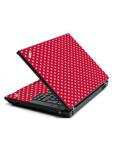Red White Stars IBM L412 Laptop Skin