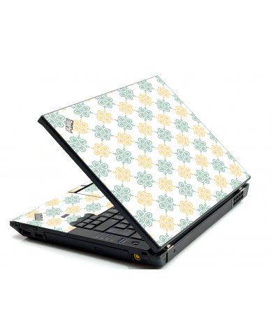 Yellow Green Flowers IBM L412 Laptop Skin