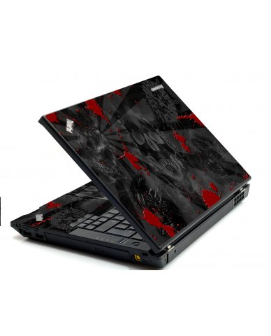 Black Skull Red IBM Sl400 Laptop Skin