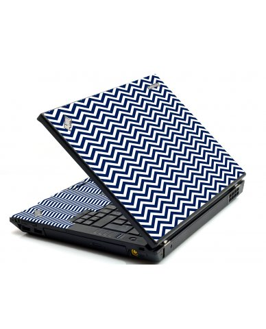 Blue Wavy Chevron IBM Sl400 Laptop Skin