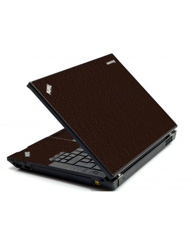 Brown Leather IBM Sl400 Laptop Skin