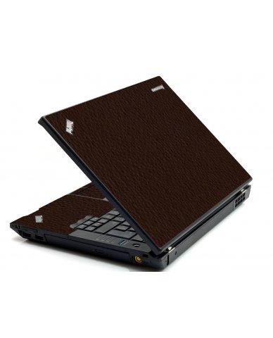 Brown Leather IBM Sl400 Laptop Skin