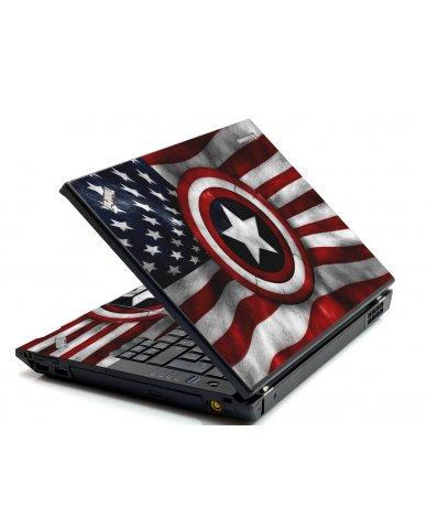 Capt America Flag IBM Sl400 Laptop Skin