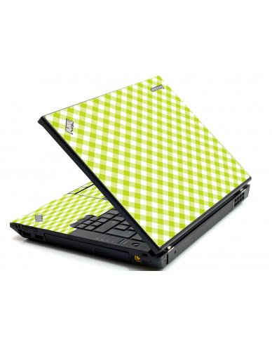 Green Checkered IBM Sl400 Laptop Skin