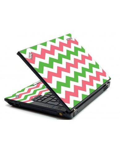 Green Pink Chevron IBM Sl400 Laptop Skin