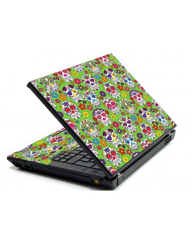 Green Sugar Skulls IBM Sl400 Laptop Skin