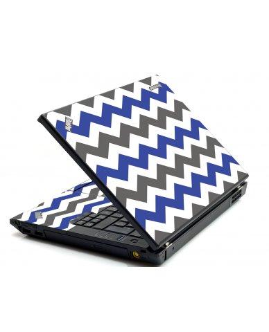 Grey Blue Chevron IBM Sl400 Laptop Skin