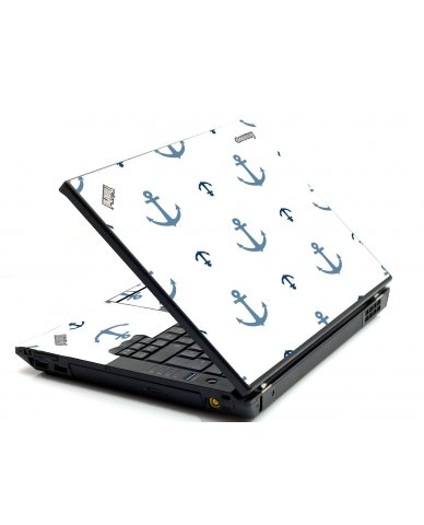 Multi Blue Anchors IBM Sl400 Laptop Skin