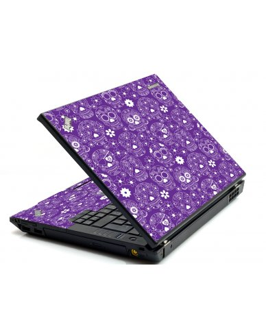 Purple Sugar Skulls IBM Sl400 Laptop  Skin