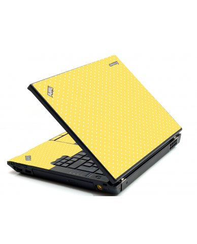 Yellow Polka Dot IBM Sl400 Laptop Skin