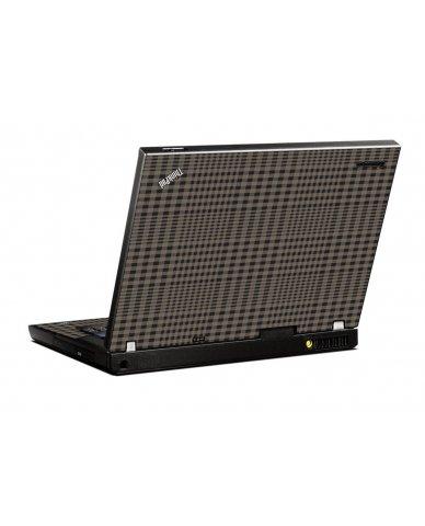 Beige Plaid IBM T400 Laptop Skin