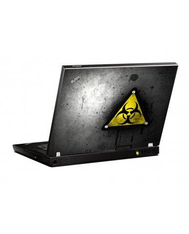 Black Caution IBM T400 Laptop Skin