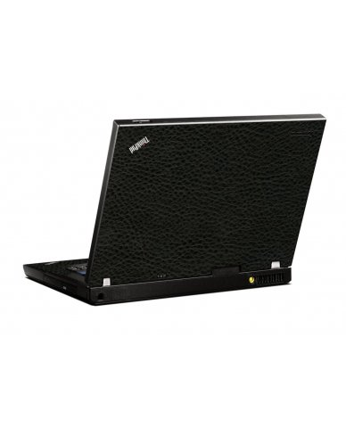 Black Leather IBM T400 Laptop Skin