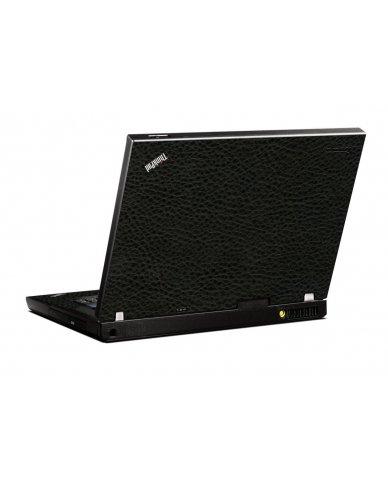 Black Leather IBM T400 Laptop Skin