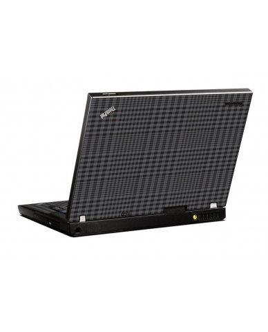 Black Plaid IBM T400 Laptop Skin